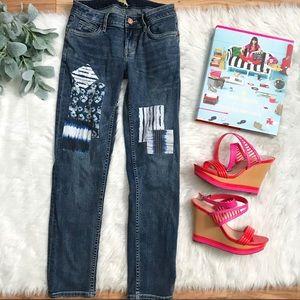 Tommy Bahama Slim Boyfriend Patch Crop Jeans